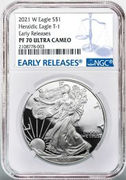 Proof-70 NGC 2021-W Silver American Eagle
