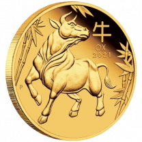 1 oz - 2021 Australian Gold Year of the Ox - REV