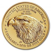 (Type 2) 1/10-oz. 2021 Gold American Eagles