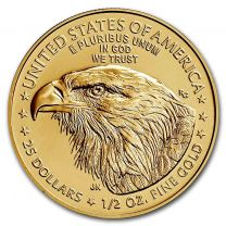 (Type 2) 1/2-oz. 2021 Gold American Eagles