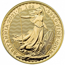 1-oz. 2021 Gold British Britannias