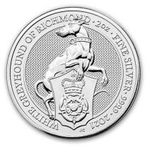 2020 Great Britain 2 oz Silver Queen's Beasts White Lion