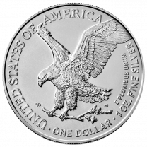 2021 Silver American Eagles (Type 2) - Reverse