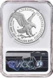 Type 2) Proof-70 NGC 2021-W Silver American Eagle - Reverse