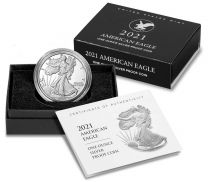 (Type 2) 2021-W Proof Silver American Eagles (with original box and certs)