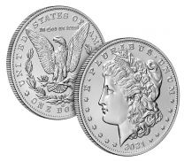 Six-coin Set: 2021 100th Anniversary Morgan & Peace Silver Dollars (in original mint packaging)
