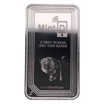 5oz - MintID Silver Buffalo Bar