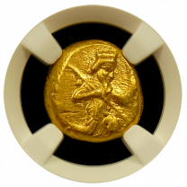 Persian Gold Daric TY 3 NGC Choice About Uncirculated 4x5