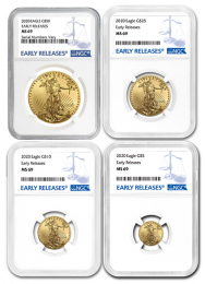 MS 69 - 2020 American Eagle Gold Coin NGC 4 Coin Set