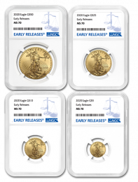 MS 70 - 2020 American Eagle Gold Coin NGC 4 Coin Se
