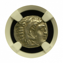 Alexander The Great Silver Drachm NGC XF
