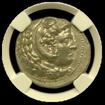 Alexander The Great Silver Tetradrachm NGC AU 5X3 Fine Style