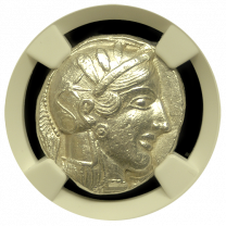 Egyptian Silver Owl Tetradrachm CHAU 5x2