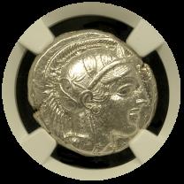 Athens Silver Owl Tetradrachm NGC CHAU 5x4