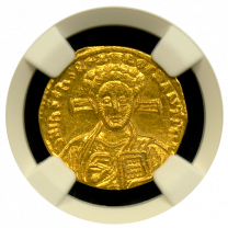 Justinian II Gold Solidus Mint State - Obverse