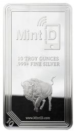10-oz. MintID Silver Buffalo Bar