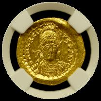 Marcian Gold Solidus NGC GEM-MS 5X5