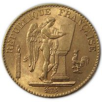 French 20 Franc Angel 1871-1898 - Obverse