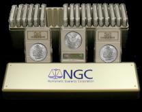 Morgan Silver Dollars NGC/PCGS MS-64 - Box of 20