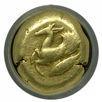 Cyzicus Electrum Stater 'Winged Stag' NGC CHF 5x4
