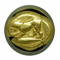 Cyzicus Electrum Stater 'Hound on Tunny' NGC CHVF 4x4