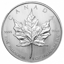 Canadian Maple Leaf Palladium Coins - 1 oz. Any Date