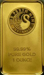 Perth Mint 1 oz. Gold Bar - Obverse