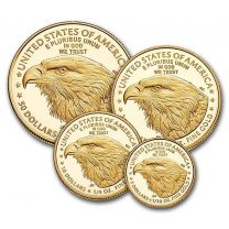 Your Choice of 2002-2011 Proof 70 Gold American Eagle 4 Coin Set