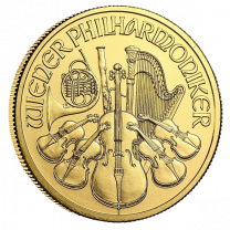 1/10-oz. 2020 Gold Austrian Philharmonic - Rev