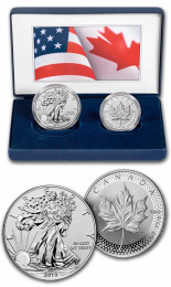 "2019 Silver U.S. & Canada ""Pride of Two Nations"" Set"