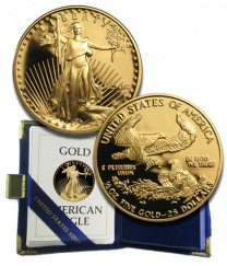 Half Ounce Proof Gold American Eagles (various dates)