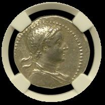 Ptolemy V Silver Tetradrachm NGC CHXF 4x2
