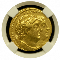 Ptolemy II Gold Octodrachm  - Obverse