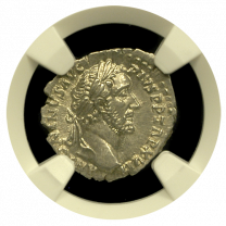 Antoninus Pius Silver Denarius NGC MS Star 5x5