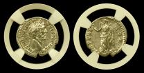 Antoninus Pius Silver Denarius NGC CHXF