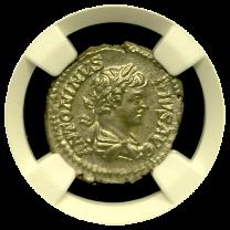 Caracalla Roman Silver Denarius NGC MS