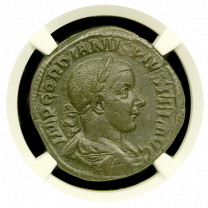 Gordian III Bronze Sestertius NGC AU
