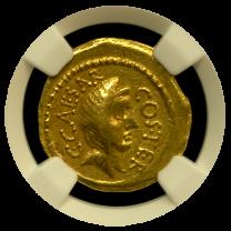 Julius Caesar Gold Aureus NGC CHVF 5x4
