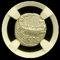 Silver Denarius of Marc Antony - OBV