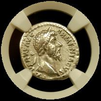 Lucius Verus Silver Denarius - Obverse