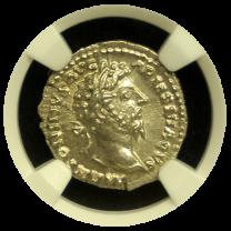 Roman Marcus Aurelius Silver Denarius NGC Choice Mint State