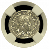 Maximinus I Roman Silver Denarius NGC MS