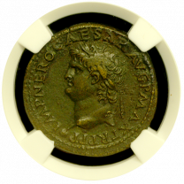 Roman Nero AE NGC Extremely Fine
