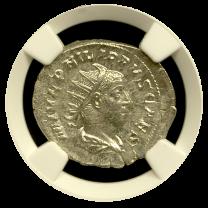 Philip II Silver Double-Denarius NGC Mint State