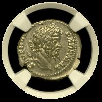 Septimius Severus Roman Silver Denarius NGC MS