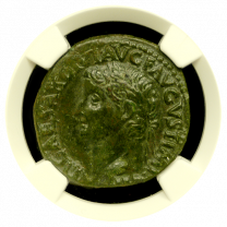 Tiberius Bronze AS NGC XF 4x4
