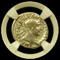 Trajan Silver Denarius Fine