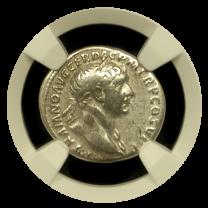 Trajan Silver Denarius NGC Very Fine