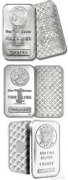 Silver Bars - 1 oz. Our Choice Design .999 Fine