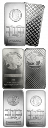 Various Silver Bars - 10 oz